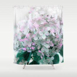 Soft Pastel Hydrangeas Shower Curtain