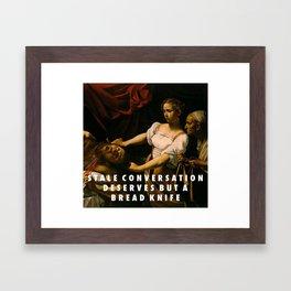 Stale Conversation Framed Art Print
