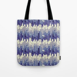 Amethyst abstract city ladscape Tote Bag