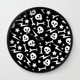 Punk Pattern Wall Clock