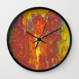 Fluid Abstract 02 Wall Clock