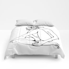 Sitting woman figure Comforters