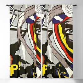 Okay Hot Shot, Okay!, 1963 - Roy Lichtenstein Blackout Curtain