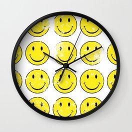 Smiley Face | Retro 70's | Vintage 70's Graphic Wall Clock