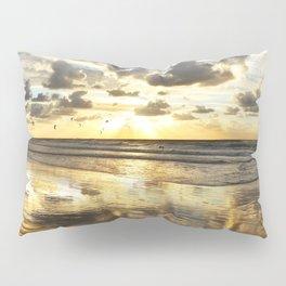 Golden Surf Sunrise Pillow Sham