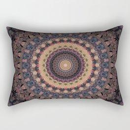 Mandala in purple and brown tones Rectangular Pillow