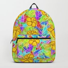 Hawaiian Yellow Flowers Backpack