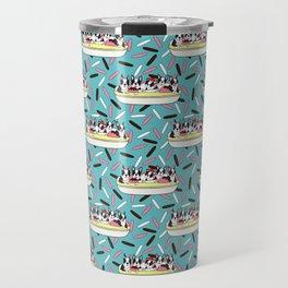 Banana Split Bostons on Sprinkles Travel Mug