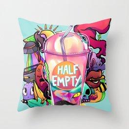 Half-Empty Throw Pillow