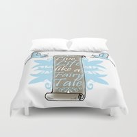 fairy tale Duvet Covers featuring Fairy Tale by VirgoSpice