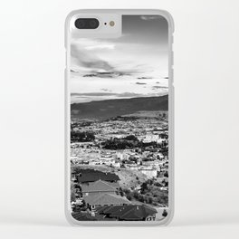 Okanagan Cityscape 02 BW Clear iPhone Case