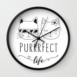 PurrrFect Wall Clock