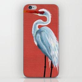 White Heron iPhone Skin