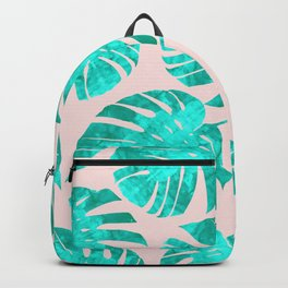 Composition tropical leaves XIII Backpack