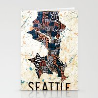 seattle Stationery Cards featuring Seattle by Artful Schemes