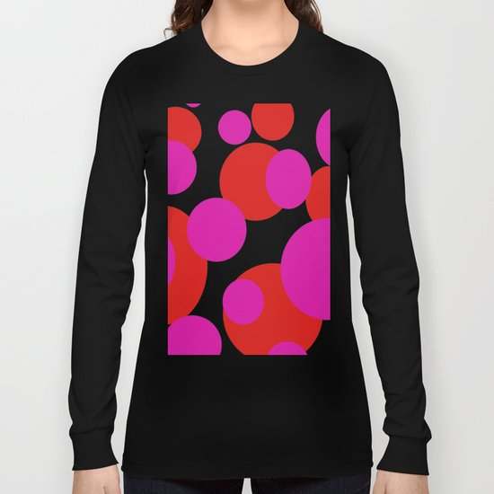 Pink and Red dots  Long Sleeve T-shirt