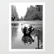 Yuletide ornament reflected Art Print