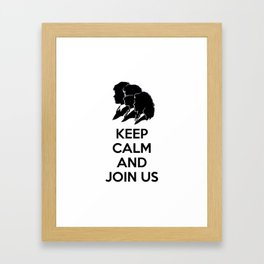 Kee Cam And Join Us Framed Art Print