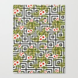 Geometric Jungle #society6 #decor #buyart Canvas Print