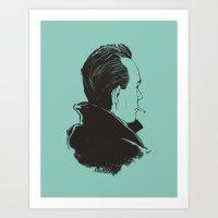 camus Art Prints featuring Camus 2 by reymonstruo