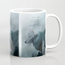 Wilderness Wolf & Poem Coffee Mug