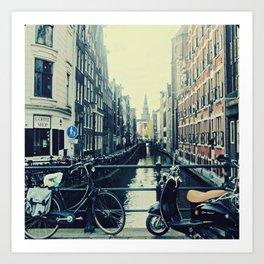 Coffee street- Amsterdam Art Print