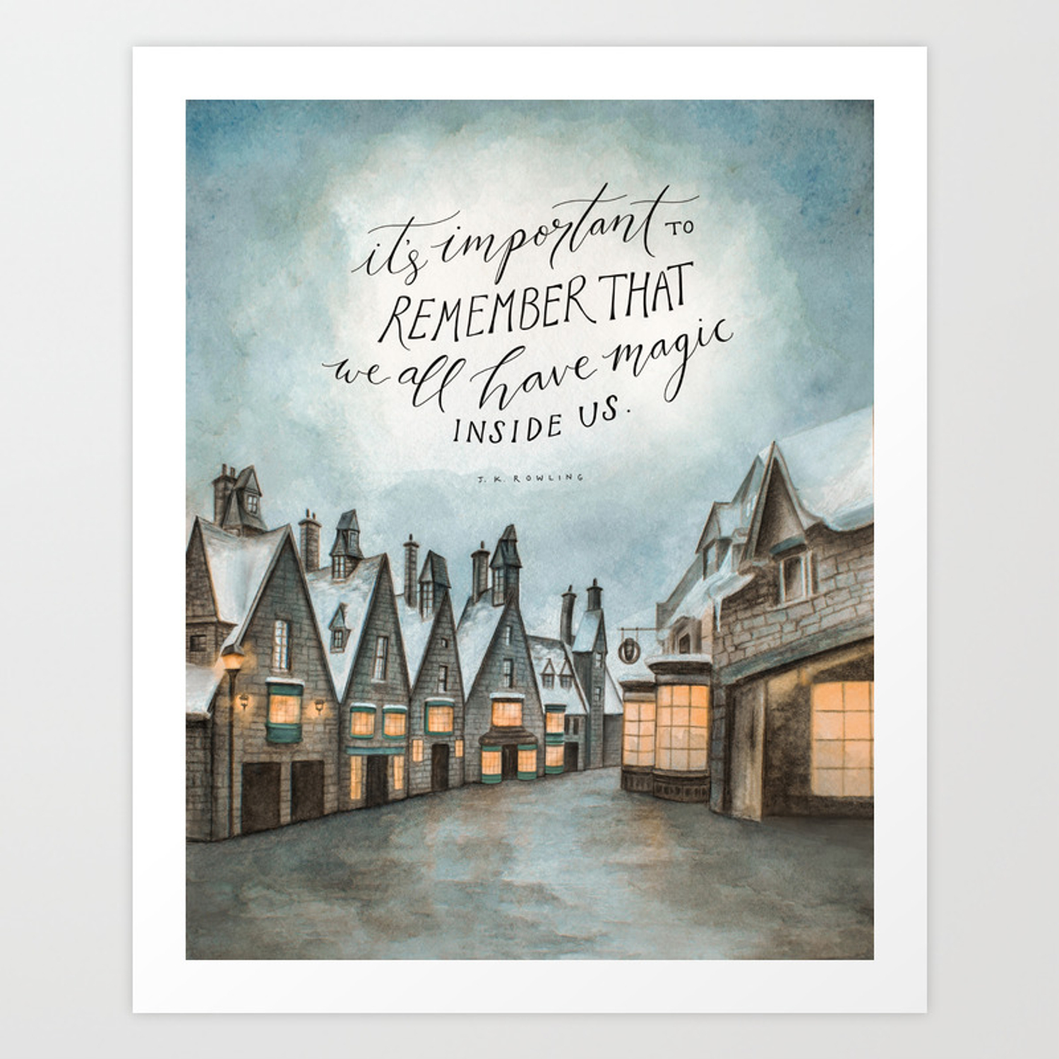 J.K Rowling It Is Important To Remember That We All Have Magic Inside Us Wall Sticker