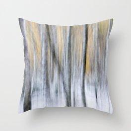 Silver Birch Movement Throw Pillow