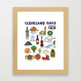 Cleveland Ohio Landmarks Framed Art Print