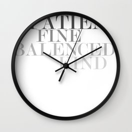 Skinny Love Typography Wall Clock