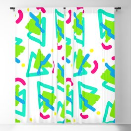 Squiggle Party Blackout Curtain