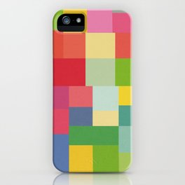 Mid-Century Modern Colorful Geometric iPhone Case