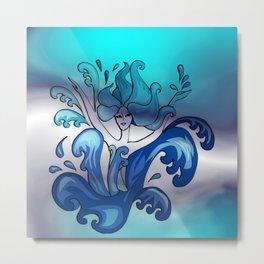 mermaid dance -1- Metal Print