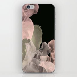 Blush Abstract Roses on Blackground iPhone Skin
