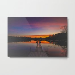 Adirondack Sunset Metal Print