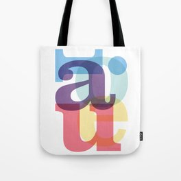 aeiou Tote Bag
