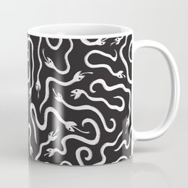 Playful White Snakes Coffee Mug