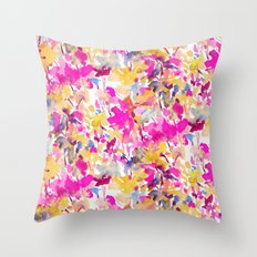 Local Color Yellow Pink Throw Pillow