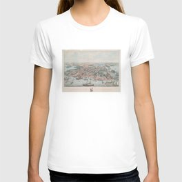 Vintage Pictorial Map of Annapolis MD (1864) T-shirt
