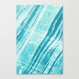 Abstract Marble - Teal Turquoise Canvas Print