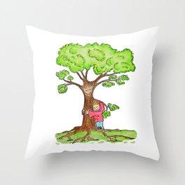 Tree Hug Throw Pillow