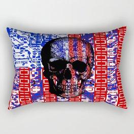 US Skull in a digital circuit. Rectangular Pillow