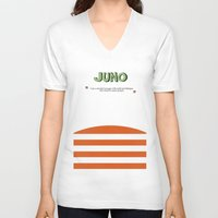 movie poster V-neck T-shirts featuring Juno - Alternative Movie Poster by Stefanoreves