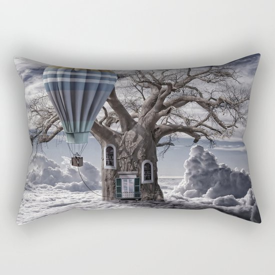 Home tree up in the clouds Rectangular Pillow