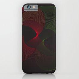 Geometric Neon galaxy black red iPhone Case