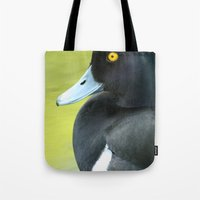 duck Tote Bags featuring Duck by BlackNYX