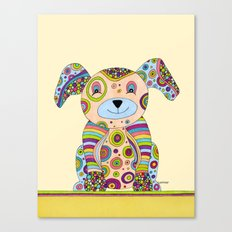 Puppy & Me Canvas Print