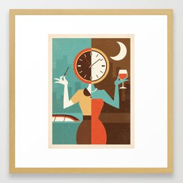 Wine Time Framed Art Print