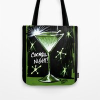 martini Tote Bags featuring Martini  by David Miley