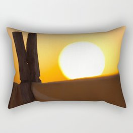 Clothes peg at sunrise Rectangular Pillow